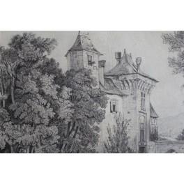 Dessin au crayon 19ème siècle