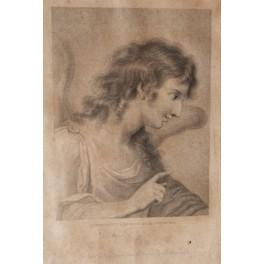 Gravure Ange Gabriel dessin Cipriani (1727-1785) gravure Smith début 19ème siècle