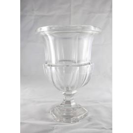 Vase Médicis en verre époque 20ème siècle
