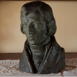 Sculpture en terre cuite 'Portrait de Frédéric Chopin' par Marcel Bouraine (1886-1948)