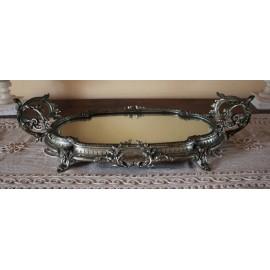 Surtout de table en cuivre argenté époque début 20ème siècle