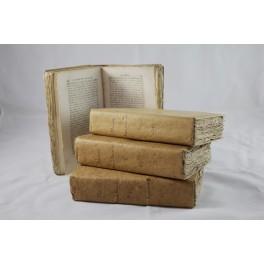 Livre 'L'année françoise ou vies des hommes qui ont honoré la France' en 4 volumes 1789