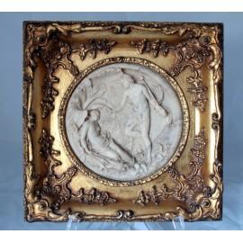 Bas-relief en marbre 'Le sommeil de Titania' Titania et Obéron par Edward William Wyon 1848