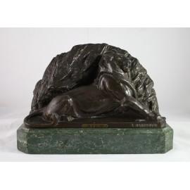 'Lion de Belfort' d'après Auguste Bartholdi édition en régule vers 1910