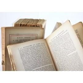 8 livres de Marcel Proust éditions NRF de 1924 à 1927