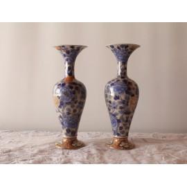 Paire de vase en porcelaine Fukagawa Japon