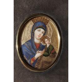 """Miniature sur ivoire icône """"Vierge Orante"""" VENDU"""