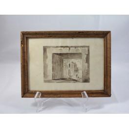 Petit dessin au lavis époque début 20ème siècle